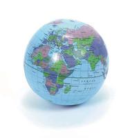 "Help You! New 16"" Globe Inflatable Earth World School Teacher Beach Ball Fantastic Educational Map Stirred Up Study Interest"