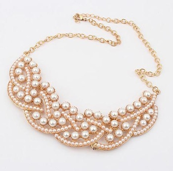 Min. order is $10(mix) 460 fancy pearl chunky chain necklace for women 2013 fashion collar necklace wholesale jewelry