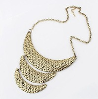 punk dot three layer crescent necklace fashion necklace wholesale jewelry 2013