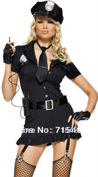 ML5315 Hot selling 2013 CPAM Free Shipping Sexy Party Carnival Traffic Cop Costume UK Sexy Police Costume(China (Mainland))