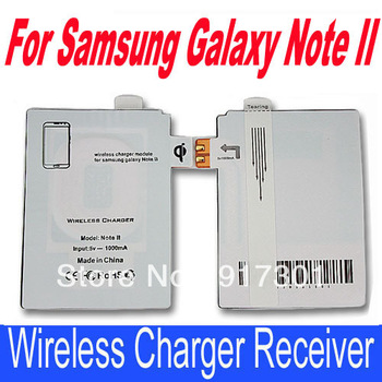 New QI standard wireless charging Tag Receiver for Samsung Galaxy Note2 N7100 N7108 N719 free shipping retail package