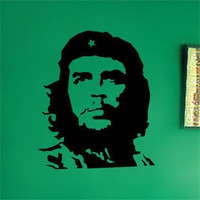 che guevara Endomorph doodle wall stickers bedroom wall stickers bathroom wall stickers wall decal 45*50cm