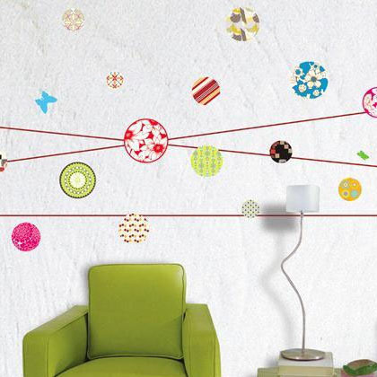 Pattern dot wall stickers no . 58026 tile stickers glass stickers bathroom decoration film(China (Mainland))