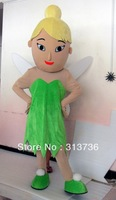 Free Shipping Adult Size New Fairy Girl Cartoon Cosplay Mascot Costume Christmas Hallowmas Party Dress