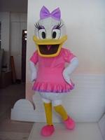 Free Shipping Adult Size Donald Daisy Duck Cartoon Cosplay Mascot Costume Christmas Hallowmas Party Dress