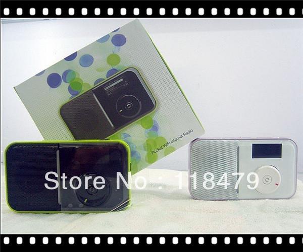 Freeshipping china post Wifi radio, Internet radio,Portable Mini Pocket Wireless WiFi Internet FM Radio Player(China (Mainland))