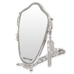 Mecor mica makeup mirror table fashion quality mirror folding portable handle mirror(China (Mainland))