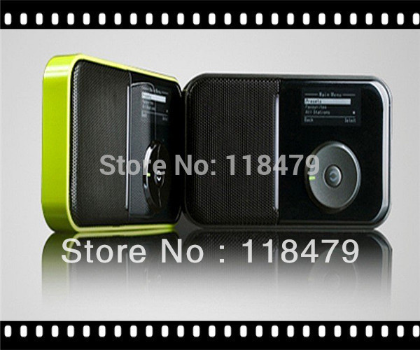 Free Shipping Mini Pocket Digital FM RDS Wireless WiFi Internet Radio Promtion Gift(China (Mainland))