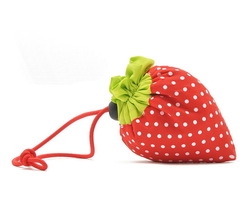 H1343 Hot price Sale Cute Foldable Red Strawberry Shopping Bag promotional Shopper FREE SHIPPING DROP SHIPPING WHOLESALE(China (Mainland))