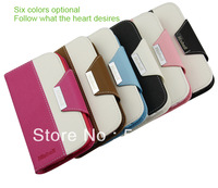 High Quality 2c leather Phone Case 6 colors available for Sumsung I9300 free shipping by china post