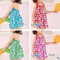 6 pcs/lot 2013 Summer Flower Dresses Children Kids Clothing Beach Design HOT Selling  AA5038