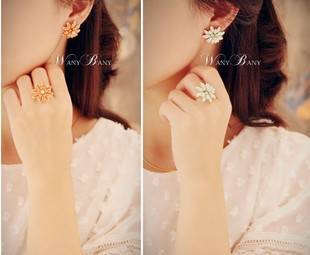0052 accessories fashion elegant daisy chrysanthemum ring finger ring female