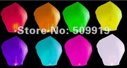 20pcs/lot Creative Gift Pure Color No pictures Sky Lanterns & Chinese Wishing Lanterns Free Shipping(China (Mainland))