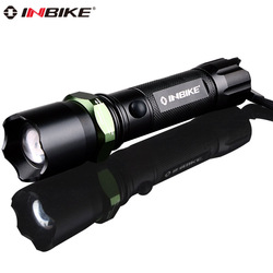 Inbike 603 glare flashlight waterproof household mishit lamp q5 mobile phone usb charge belt life-saving hammer(China (Mainland))