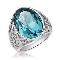 Fashion Sapphire brand ring crystal aquamarine ring vintage female ka115