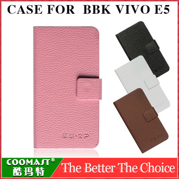New Arrival Adanced PU leather BBK E5 Phone Case BBK E5 Mobile Phone Case VIVO E5 Protective Case with holder