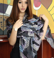 Bohemia elegant geometry style decorative pattern scarf fluid thermal female