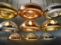 Free shipping!Hot Sell Product Tom Dixon void light copper, dia 30cm