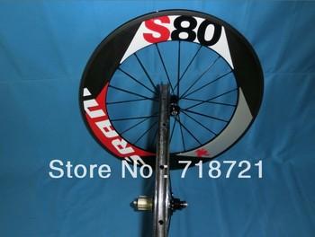 wholesale-sram s80 carbon clincher/tubular 88mm&carbon wheelset tubular/clincher&3k glossy/matte finishing