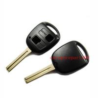 Free shipping 50pcs/lot new no logo 2 buttons car key case (short blade)