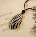 2013 At least $8 ShanZuan black zebras long necklace sweater chain N035(China (Mainland))