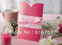 Romantic Pink Wedding Invitation With Insert (Set of 50) Printable and Customizable Wholesale Free Shipping
