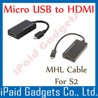 100 Pcs - MHL Cable  - For Samsung Galaxy S2 - Micro USB to HDMI for Samsung i9100 - 5 Pin MicroUSB