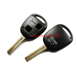 Free shipping! wholesale price 50pcs/lot new uncut 2 buttons toyota car key blank (short blade)(China (Mainland))