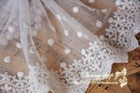 14cm beige gauze embroidery lace decoration trim lace
