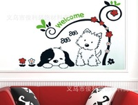 FREE SHIPPING Lovely Welcome Dog Kids Room Wall Stickers for Pet Shop