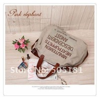 Fashion Women Handbag Classical Canvas Bag Carrier Crossbody Shoulder canvas handbag with letter gift Free shipping 2pcs
