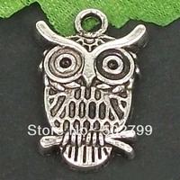 Free Shipping Wholesale Lots 20pcs Tibetan Silver Tone Alloy Habitat Owl Charms TS6111