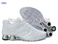 Free Shipping Wholesale 2012 Famous Sneakers  Men's Sports Basketball Shoes Footwear Shoes C801 White/Black/Silver Size:41-46