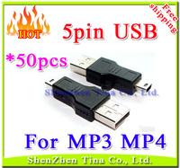 HOT USB 5pin cable for MP3 MP4 player ,Mini USB cable 50pcs/lot