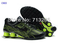 Free Shipping Wholesale 2012 Famous Sneakers  Men's Sports Basketball Shoes Footwear Shoes C803 Black/Green Size:41-46