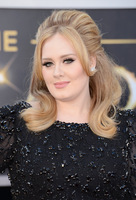 Free Shipping!New Arrival Adele 2013 Design Oscars Red Carpet Dresses Black Round Neck  Beading Appliques Lace Celebrity Dresses