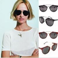 2013 New Super Vintage/Retro Women/Female Men Round Shape With Metal stripe Sunglasses 5pcs/lot hot sale Free Shipping