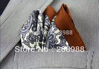 New Arrival ! 18 colors available! 100% Silk Pocket Squares Paisley Silk Handkerchief Hanky SC85  #1368