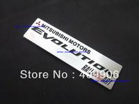 Free Shipping,New Aluminium Metal Car Logo Emblem Badge Mitsubishi Motors Evolution Ralliart