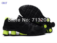 Free Shipping Wholesale 2012 Famous Sneakers Men's Sports Basketball Shoes Footwear Shoes C817 Black/Green  Size:41-46