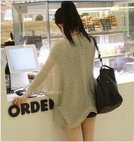 Autumn new arrival women's cardigan summer batwing shirt sweater cape outerwear plus size sun protection clothing