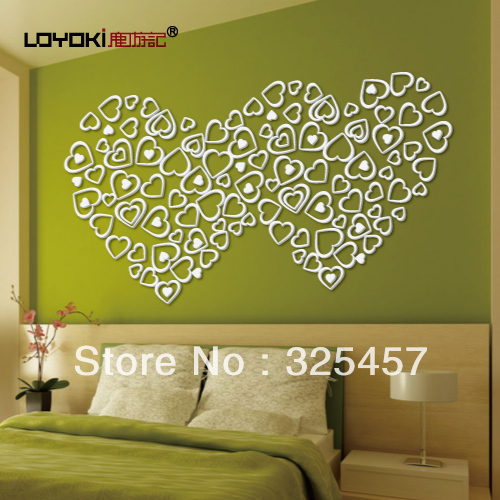 Deer travelogue heart three-dimensional wall stickers love ofhead new house wall decoration(China (Mainland))