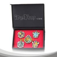 Christmas gift Harry Potter Hogwarts House Metal Pin Gryffindor Slytherin Ravenclaw Hufflepuff Badge Set of 5pcs