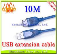 Hot selling USB extension cable cord 10M,30ft USB2.0 A Male to Female ACTIVE Extension Data Cable retail wholesale