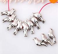 Wholesale 400pcs Fashion Zinc Alloy  Birds  Spacer  Beads 14x6mm B14B
