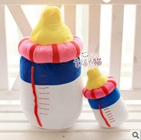 free shipping 45cm good quality lovely Cartoon bottle plush toy cushion pillow