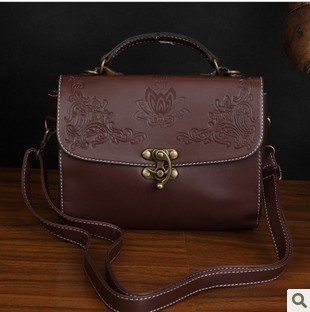 2012 summer women's bags fashion vintage solid color women's handbag all-match handbag