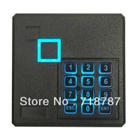 Black External Security Door RFID 125KHz Card Reader Waterproof Wiegand 26 With keypad  Free Shipping