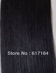 Remy Indian Human Hair Extensions Skin Weft Weave Straight Sewed in Natural Black 100g Width 59inch Women Beauty Salon Supply(China (Mainland))
