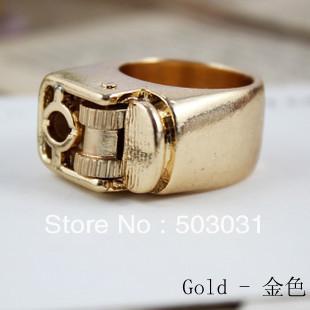 Free Shipping 3pcs/lot New Steampunk Fierce Unisex Punk Gothic Lighter Ring Size 7 (Metal) Fashion Jewelry(China (Mainland))